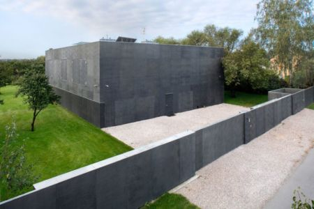 vue panoramique façade principale - safe-house par Robert Konieczny – KWK Promes - Varsovie, Pologne
