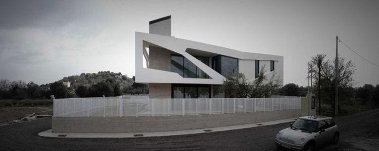 vue panoramique façade rue - Paradox house par Klab architecture - Athènes, Grèce