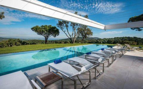 vue panoramique - façade terrasse - Villa - France