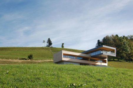 vue panoramique - house-dornbirn par KM Architektur en Suisse