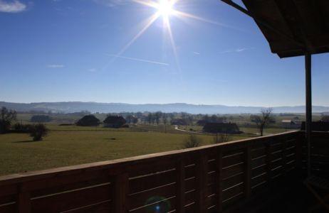 vue panoramique - maison ossature bois par Eric Viprey, Cambiums - France