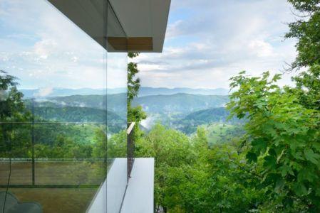vue panoramique paysage - Hillside-Home par Multiplan Arhiteki - Ljubljana,Slovénie