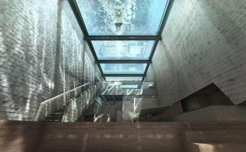 vue panoramique piscine en verre - Casa Brutale par OPA_Open Plateform - Grèce