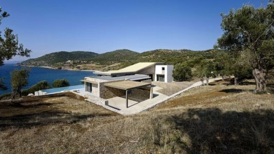 vue panoramique - résidence exclusive par Z-Level - île Kios, Grèce