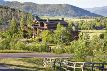 vue panoramique - ranch contemporain en bois par Joe Robbins - Steamboat Spring, Usa