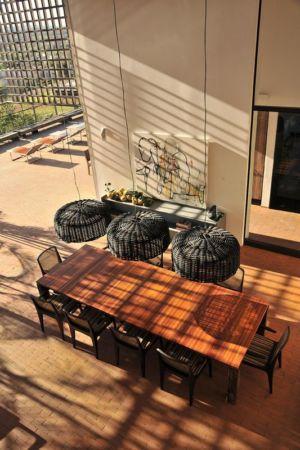 vue panoramique séjour - Quinta-House par CANDIDA TABET ARQUITETURA - São Paulo, Brésil