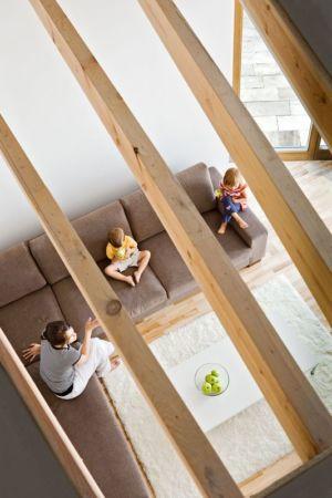 vue panoramique salon - standard-house par Robert Konieczy KWK Promes - Gmina Pszczyna, Pologne