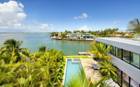 vue panoramique site - Miami Beach Home par Luis Bosch - Miami Beach, USA