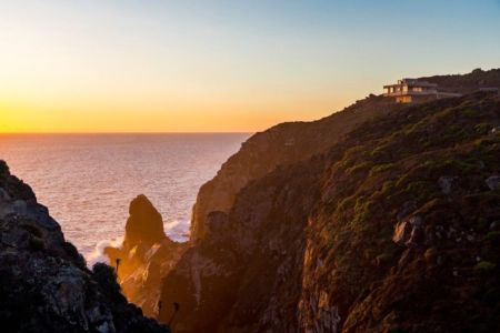 vue panoramique site - Mirador House par Gubbins Arquitectos - Tunquen, Chili