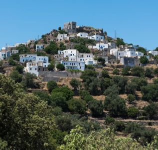 vue panoramique village- sterna-residence par Giorgos Tsironis and Greg Haji Joannides - Nisyros, Grèce