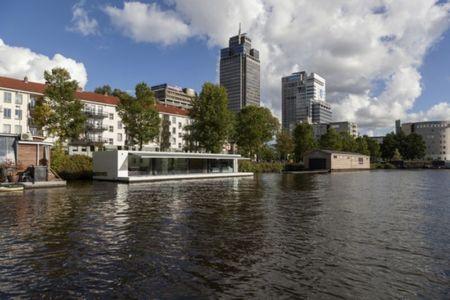 vue panoramique sur fleuve - Watervilla par +31ARCHITECTS - Amsterdam, Pays-Bas