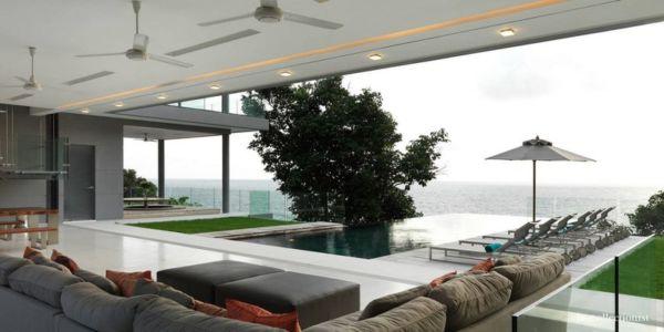 vue panoramique sur mer - Villa Kamala-Phuket, Thaïlande