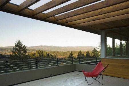 vue panoramique terrasse - HudsonPanos Residence par Swatt & Miers Architects - Healdsburg, Usa