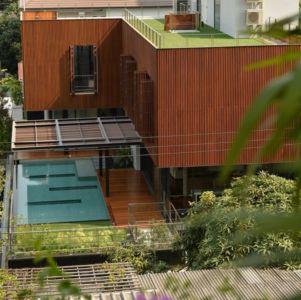 vue panoramique toit - Joly House par StuDO Architectes - Bangkok, Thaïlande
