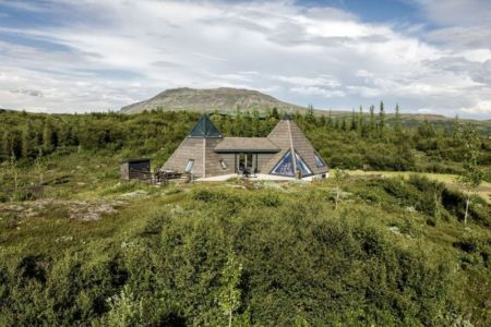 vue panoramique toiture pyramide - Vacation-home par Stunning Pyramid - Thingvellir, Islande