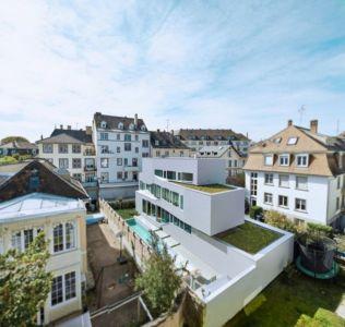 vue panoramique toiture végétalisée - MaHouse par Marc Formes - France