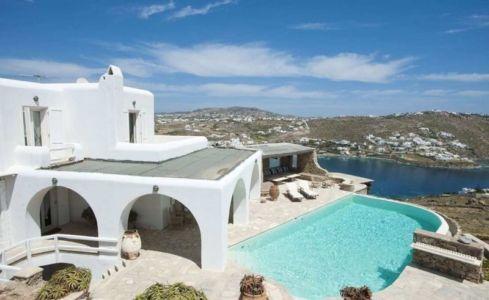vue panoramique - villa-grecque - île Mykonos, Grèce