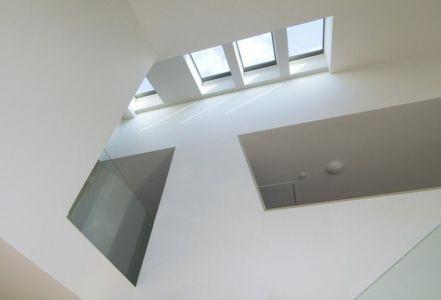 vue panorramique partie supérieure vitrée - DR_RESIDENCE par SU1 Architects + Design - Connecticut, USA