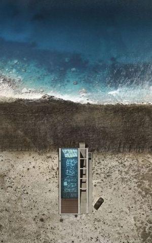 vue piscine semi-enterrée - Casa Brutale par OPA_Open Plateform - Grèce