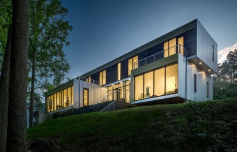 vue plongeante - Bridge House par Höweler + Yoon Architecture - McLean, Usa