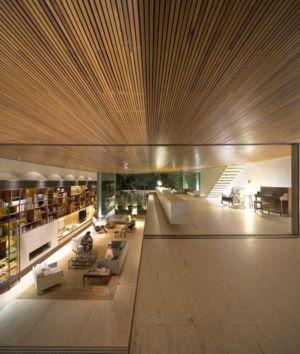 vue plongeante depuis mezzanine - Tetris House par Studio mk27 - São Paulo, Brésil
