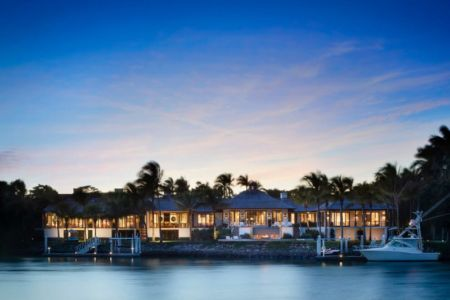 vue panoramique de nuit - villa par Krutz Homes - Floride, USA