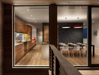 vue séjour & cuisine - Watch-Hill-House par Lubrano Ciavarra - New York, USA
