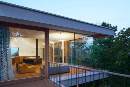 vue salon étage - Hillside-Home par Multiplan Arhiteki - Ljubljana,Slovénie