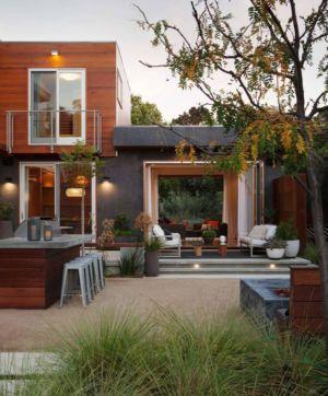 façade salon terrasse  - Los-Altos-House Dotter Solfjeld Architecture - Los Atlos, USA