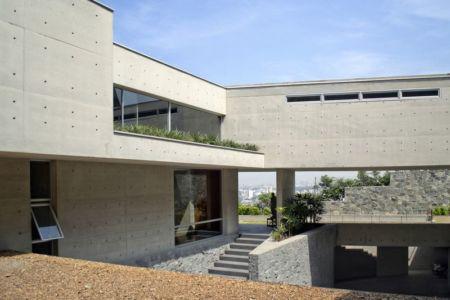 vue second étage - House-Hillside par Benavides & Watmough arquitectos - Santiago, Pérou