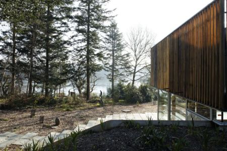 vue sur estuaire - Maison D par Lode Architecture - France - Photo Daniel Moulinet
