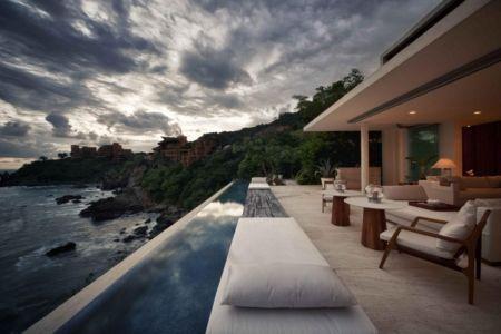 vue sur mer et piscine - Villas Finestre par CC ARQUITECTOS - Mexique - Photo Rafael Gamo & Yoshihiro Koitani
