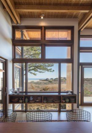 vue sur océan de la cuisine - Long Dune Residence par Hammer Architects - Truro, Usa