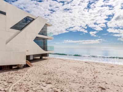 vue sur plage - villa contemporaine à Malibu, Usa