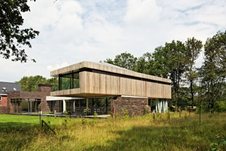 vue terrasse - 102 Heesch par Hilberink Bosch Architecten - Bosvilla, Pays-Bas