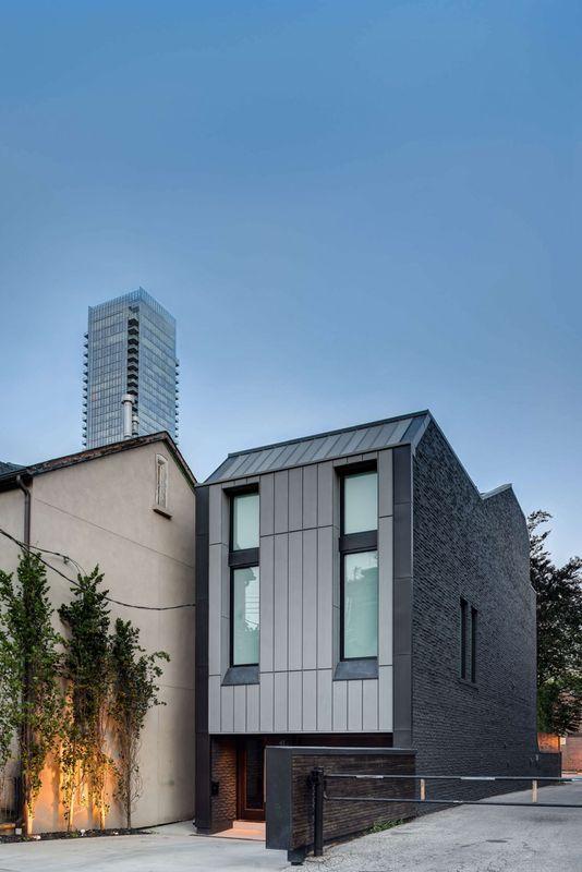 Ancienne r sidence urbaine r nov e en maison contemporaine - Architecture contemporaine residence parks ...