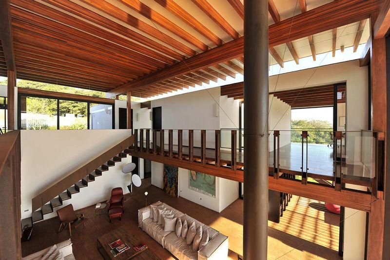 Superbe villa contemporaine o le bois structure et - Residence secondaire candida tabet architecture ...
