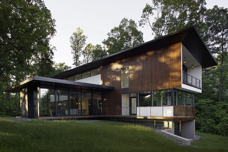 belle maison atypique qui allie architecture moderne et japonaise aux usa construire tendance. Black Bedroom Furniture Sets. Home Design Ideas