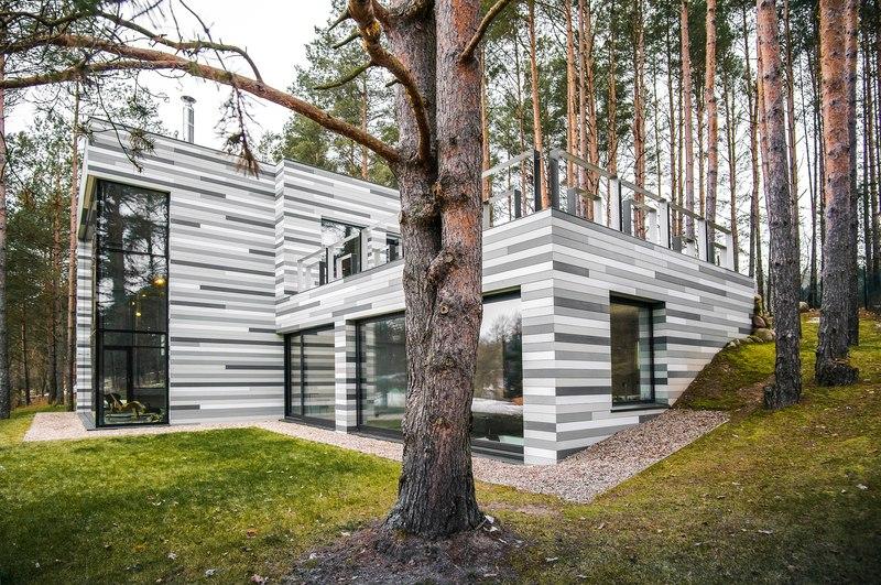 maison contemporaine par gyza vinius lituanie construire tendance. Black Bedroom Furniture Sets. Home Design Ideas