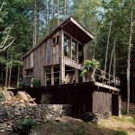 façade avant - cabane en bois écologique - Yulan - USA - Craig Petrasek