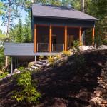 côté extérieur - maison bois - Anik Pelockuin - Messines - Canada