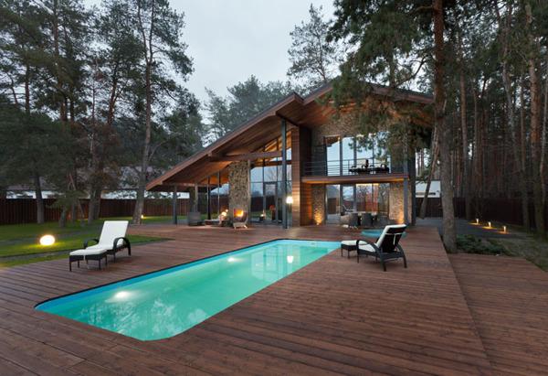 Chalet 2 0 entre pierre et bois par yod design lab for Chalet avec piscine
