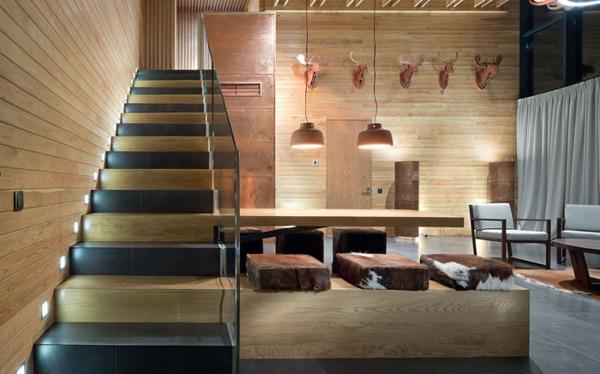 chalet 2 0 entre pierre et bois par yod design lab poltava russie construire tendance. Black Bedroom Furniture Sets. Home Design Ideas