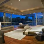 chambre parentale - Glass House par Nico Van Der Meulen Architects à Johannesburg Afrique du Sud