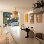 cuisine et vue terrasse - Domaine des Vautes - Frédérick Jauvion - Montpellier - France