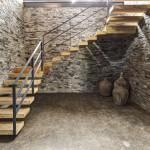 escalier bois et métal - Casa VR - Elias Rizo Architecte - Tapalta - Mexique