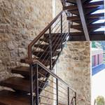 escalier en bois - Corralitos - AA Studio - Monterrey Bay - USA
