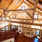 Escalier et cheminée  - Rénovation Maison - Barn Heritage - Fultonville - USA