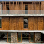 Façade arrière - Maison Bambou par Atelier Sacha Cotture - Philippines
