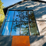 façade bardage bois et grand vitrage - maison bois - Anik Pelockuin - Messines - Canada